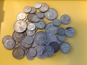 Multiple groups of $10 face value of Canadian silver coins Regina Regina Area image 1