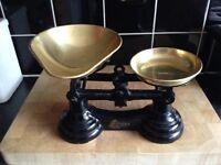 Vintage Librasco Black Cast Iron Scales