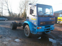 DAF 55 4X2 CHASSIS CAB 18 TON DAY CAB SPRING SUSPENSION TIPPER CHASSIS 1999