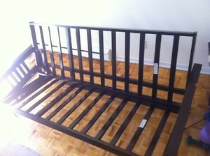 Wood futon frame - couch - sofa - bed