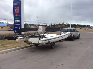 A Complete Hobie 17 with trailer
