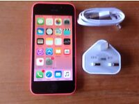 IPHONE 5C 16GB PINK UNLOCKED IT WILL TAKE ANY NETWORK SIM
