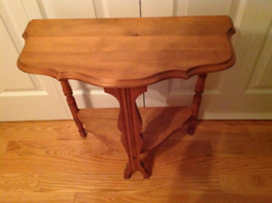 Antique table refinish by a professional