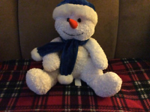 Stuffed Snowman with decoration
