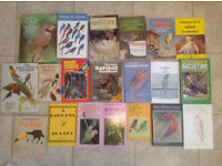 Collection of 21 books on bird keeping and aviaries