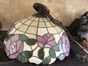 Beautiful Stained Glass Light Fixture, Tiffany Style