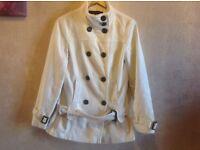 Next ladies jacket coat beige size: 8 used £10