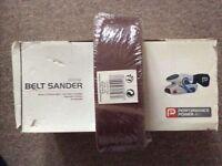 Belt sander and spare belts for sale