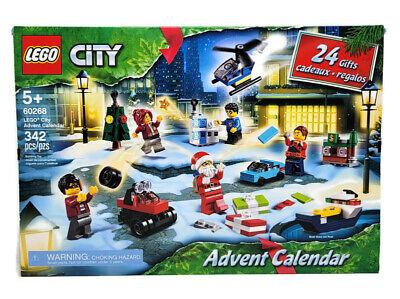 Lego City 60268 Christmas Advent Calendar 342pc Age 5+ Minifigures Santa Toys
