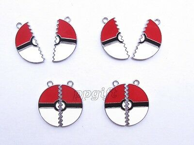 Wholesale Lot Pokemon Ball Metal Charms Jewelry Making Pendants Earrings L636 - Wholesale Pokemon