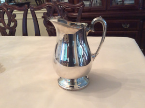 Silver-plated water pitcher (William A. Rogers)
