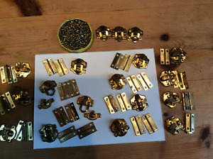 Tiny metal hinges and clasp sets
