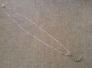silver moon chain necklace