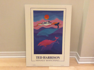 Cadre laminé -  Ted Harrison - Whale watching 18 po x 25 po