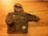 Lovely, Never worn JCB digger padded coat. Aged 4-5. New. Brown corduroy.