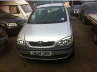 7 seater Vauxhall zafira 1.6 on 04 reg long mot