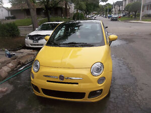 2012 Fiat 500 SPORT AUTOMATIQUE  TOITE  PANORAMIQUE IMPECABLE.