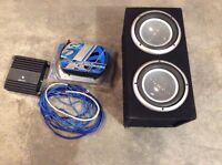 Subwoofer, amp and installation kit