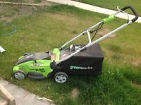 """GreenWorks 25142 16"""" 10A 2-in-1 Electric Mower"""