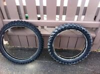 Motocross tires dunlop mx51 used