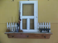 Screen door decor with hooks