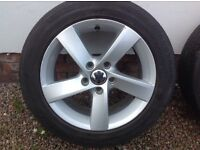 """16"""" (2013) VW PASSAT/GOLF NEW TYPE (5 SPOKE) ALLOY WHEELS PCD 5X112"""