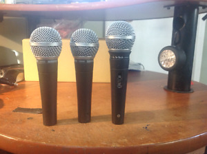 2 Shure SM58s, 5 mic stands plus more