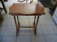 Solid wood table perfect for laptop