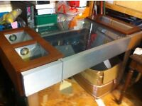 Space age display cabinet