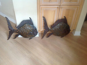 Metal wall hanging fish