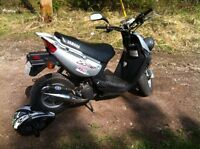 Yamaha bws scooter with profit mange exhaust and 70cc kit