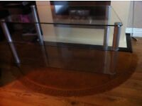 Large glass TV stand