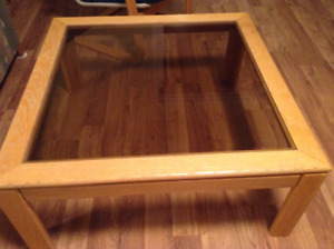 Solid oak coffee & end tables