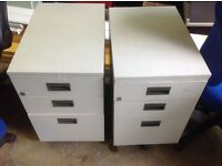 Office desk pedestal drawers, various types and configurations