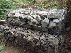 Free. 3 New Galvanized Wire Cribs