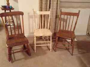 Antique Press Back Chairs Kijiji Free Classifieds In