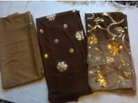 Ladies indian suits material 3 pieces £11