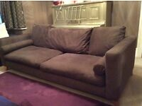 Large Brown DFS Sofa for Sale