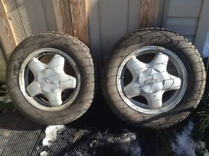 Winter tires with rims 225/60/16