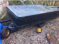 Box trailer camping