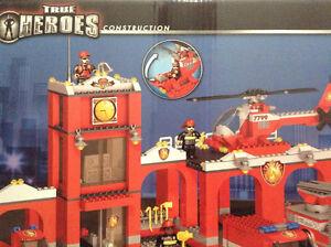 MEGA BLOCS TRUE HEROS Fire Station Construction set Cambridge Kitchener Area image 2