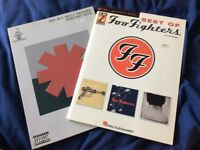 Foo Fighters Best Of and Red Hot Chili Peppers Greatest Hits Guitar Tab Books
