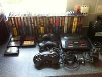 Sega mega drive 2, sega cd drive, and games bundle