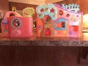 Two Littlest Pet Shop playsets