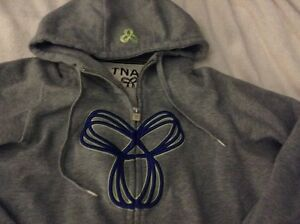 TNA large grey sweater, zipup, hoodie, good condition  London Ontario image 2
