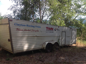 Storage covered trailer