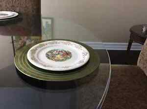 British Empire Ceramics dishes in the Menuet pattern 22 kt gold