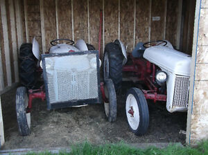 two ford tractors