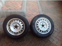 Vito 639 steel wheels and tyres
