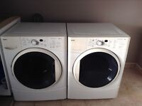 Front load Kenmore washer and dryer